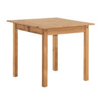 Corona Solid Pine Square Dining Table- Chairs Not Included