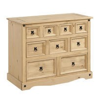 Corona Solid Pine Merchant Chest of Drawers