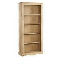 Corona Solid Pine Tall Bookcase