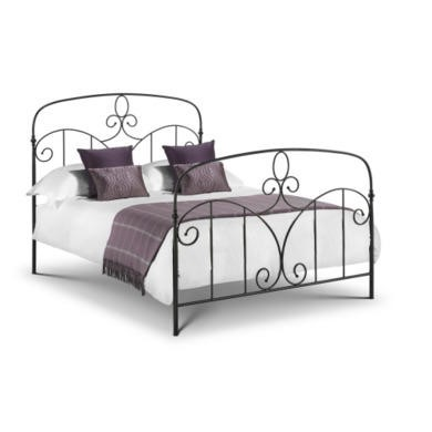 Julian Bowen Corsica 150cm King Size Metal Bed Frame In Black