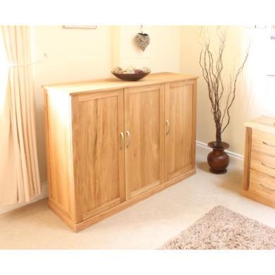 Mobel solid oak extra large shoe cupboard hallway hall storage furniture