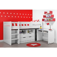 430b8683e3 Cosmo Mid Sleeper Bed with Pull Out Desk