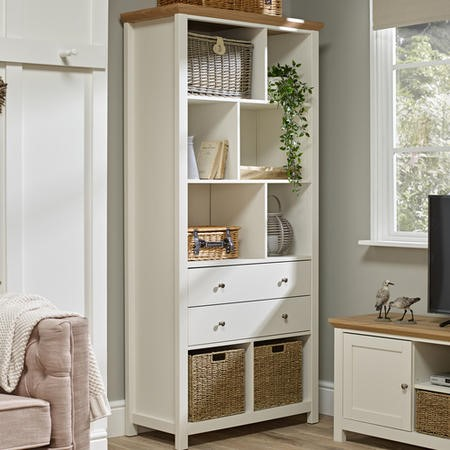 LPD Cotswold Bookcase in Cream