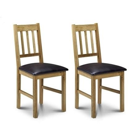 Julian Bowen Coxmoor Oak Pair of Dining Chairs