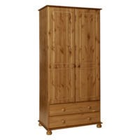 Copenhagen 2 Door 2 Drawer Wardrobe Pine