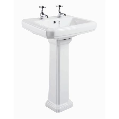 Taylor & Moore Traditional Pedestal Sink - 2 Tap Holes