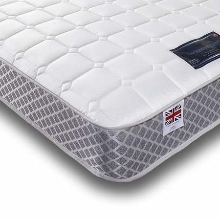 Crystal Sprung and Memory Foam Sleep Mattress Double 4ft6