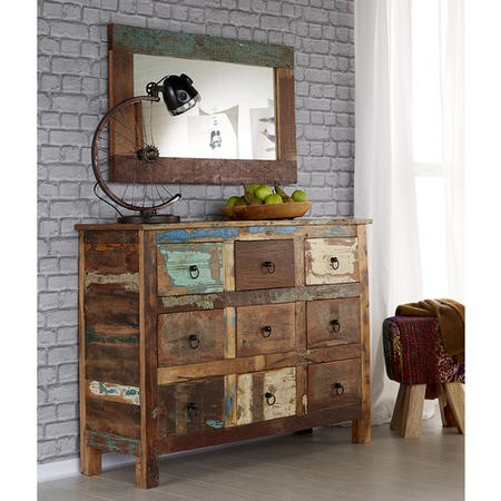 Coastal Apothecary Reclaimed Wood 9 Drawer Sideboard