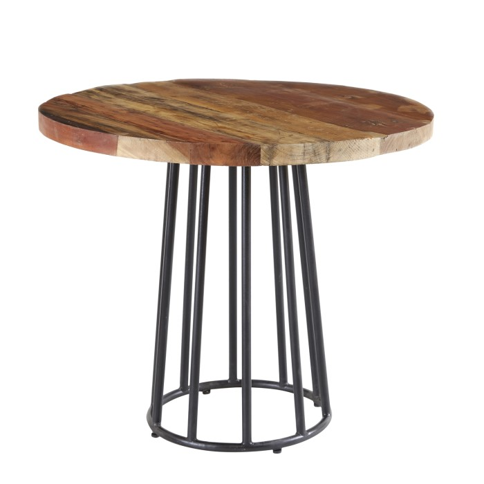 Wood Round Table.Coastal Reclaimed Wood Round Dining Table