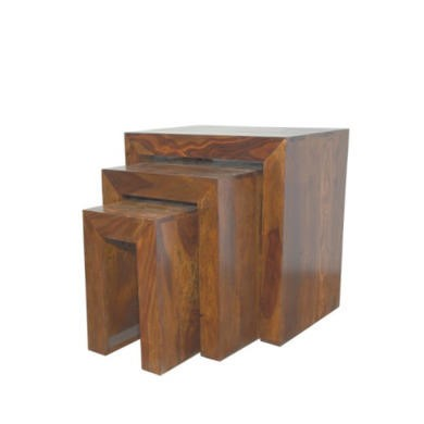 Heritage Furniture Cuba Sheesham Nest of 3 Tables