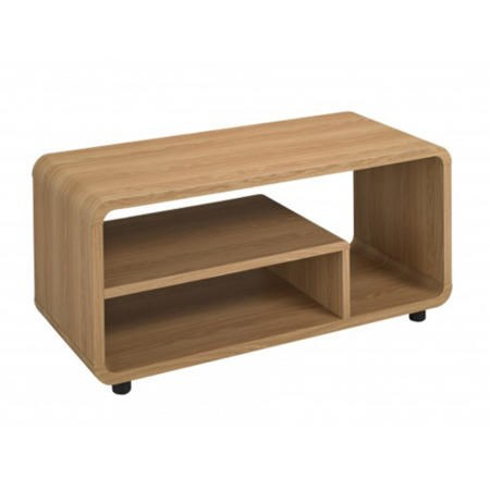 LPD Small Oak Curve TV Stand
