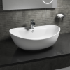 Oval Countertop Sink - 1 Tap Hole