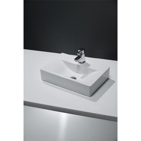 Rectangular Countertop Sink - 1 Tap Hole