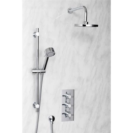 Triple Crosshead Concealed Shower Valve