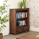CWC01B Baumhaus Mayan Low Bookcase in brown