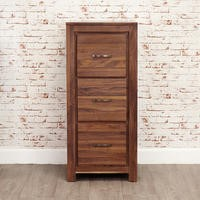 Baumhaus Mayan 3 Drawer Filing Cabinet in brown