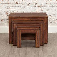 Baumhaus Mayan Nest of 3 Coffee Tables in brown