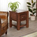 CWC10A Baumhaus Mayan One Drawer Lamp Table in brown