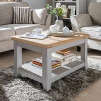 Wilkinson Furniture Clemence Soft Grey and Solid Oak Coffee Table