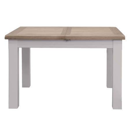 Clemence Farmhouse Grey and Solid Oak Extendable Dining Table - Vida Living