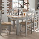 Clm-193 Wilkinson Furniture Clemence Soft Grey and Solid Oak Extending Dining Table - 150-190cm