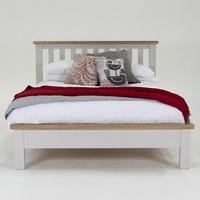 Wilkinson Furniture Clemence Soft Grey and Solid Oak SuperKing Bed