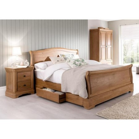Vida Living Carmen SuperKing Bed in Oak