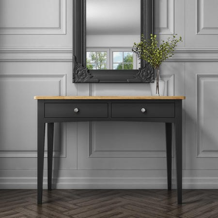 Darley Two Tone Dressing Table in Solid Oak and Anthracite