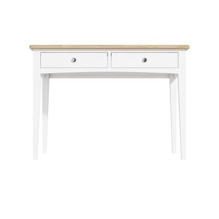 Darley Two Tone Dressing Table in Solid Oak and White