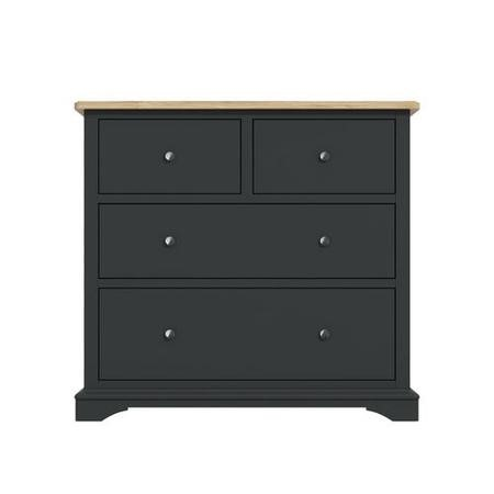 Darley Two Tone Chest of Drawers in Soild Oak and Anthracite