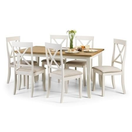 Julian Bowen Davenport Dining Set with 6 Davenport Chairs