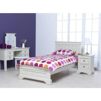 Wilkinson Furniture Deauville Solid Pine Single Bed Frame in Ivory