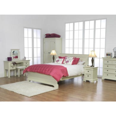 Wilkinson Furniture Deauville Solid Pine Double Bed Frame in Ivory