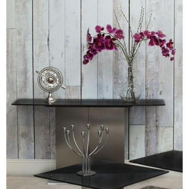 Wilkinson Furniture Dina Brushed Steel Console Table