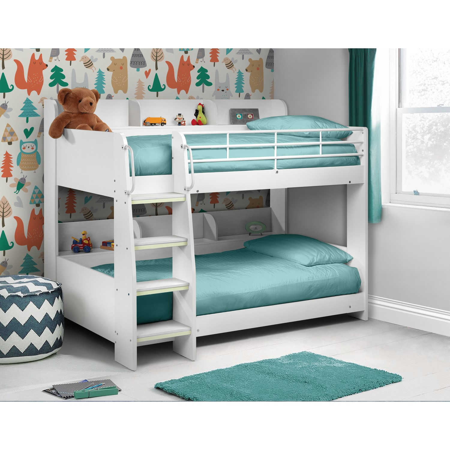 Julian Bowen Domino White Bunk Bed Furniture123