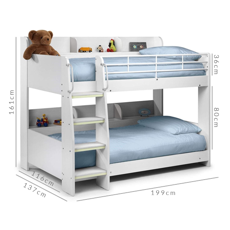 Julian Bowen Domino White Bunk Bed Bedroom Furniture Home Kitchen