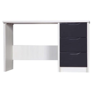 One Call Furniture Avola Premium Plus Dressing Table in White with Grey Gloss