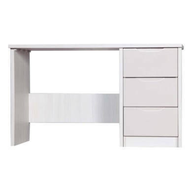 One Call Furniture Avola Premium Plus Dressing Table in White with Sand Gloss
