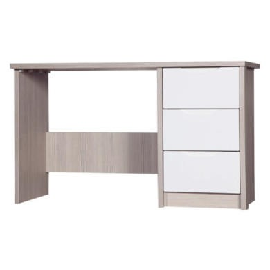One Call Furniture Avola Premium Plus Dressing Table in Champagne with Cream Gloss