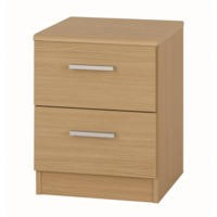 One Call Furniture Andante 2 Drawer Bedside Chest in Veradi Oak