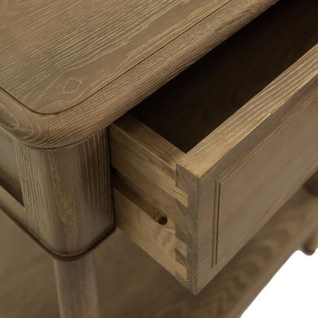 Willis and Gambier Elle Solid Ash 1 Drawer Bedside Table