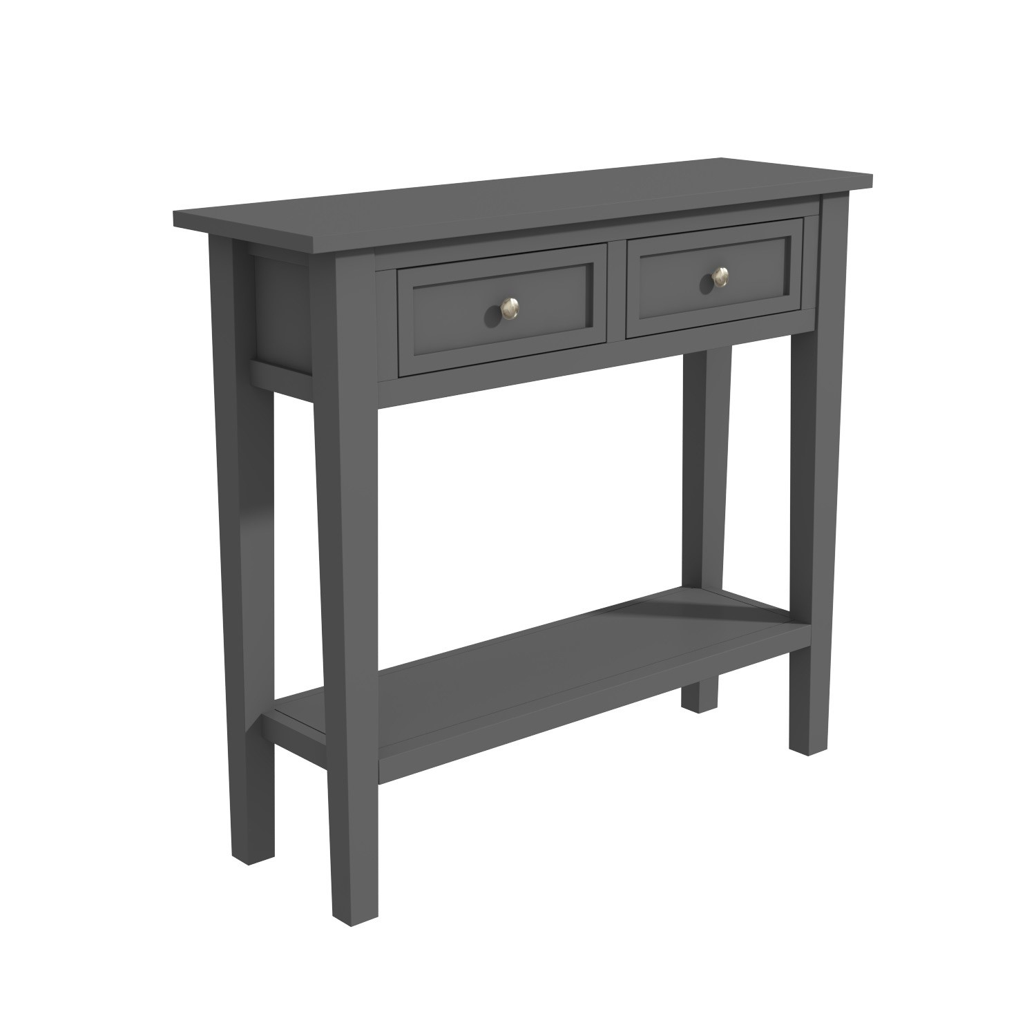 Picture of: Narrow Grey Console Table With Drawers Elms Furniture123