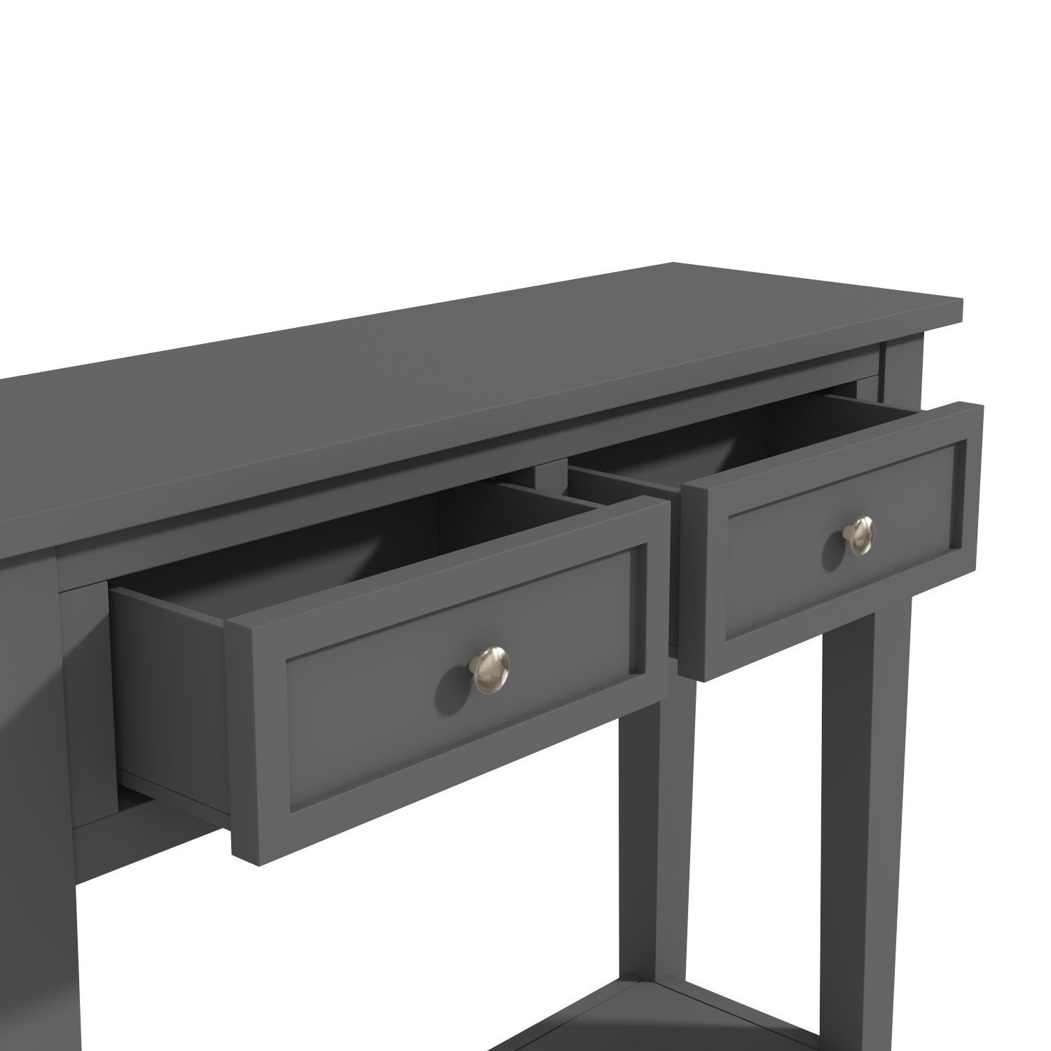 White Resin Folding Table, Narrow Grey Console Table With Drawers Elms Furniture123