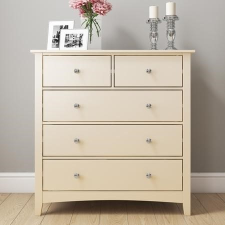 Emery 2+3 Chest of Drawers in Cream/Ivory