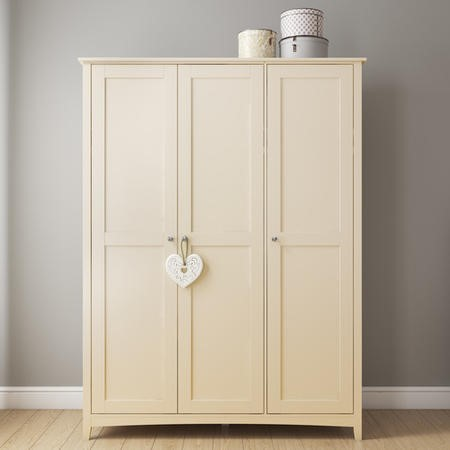 Emery Cream 3 Door Triple Wardrobe