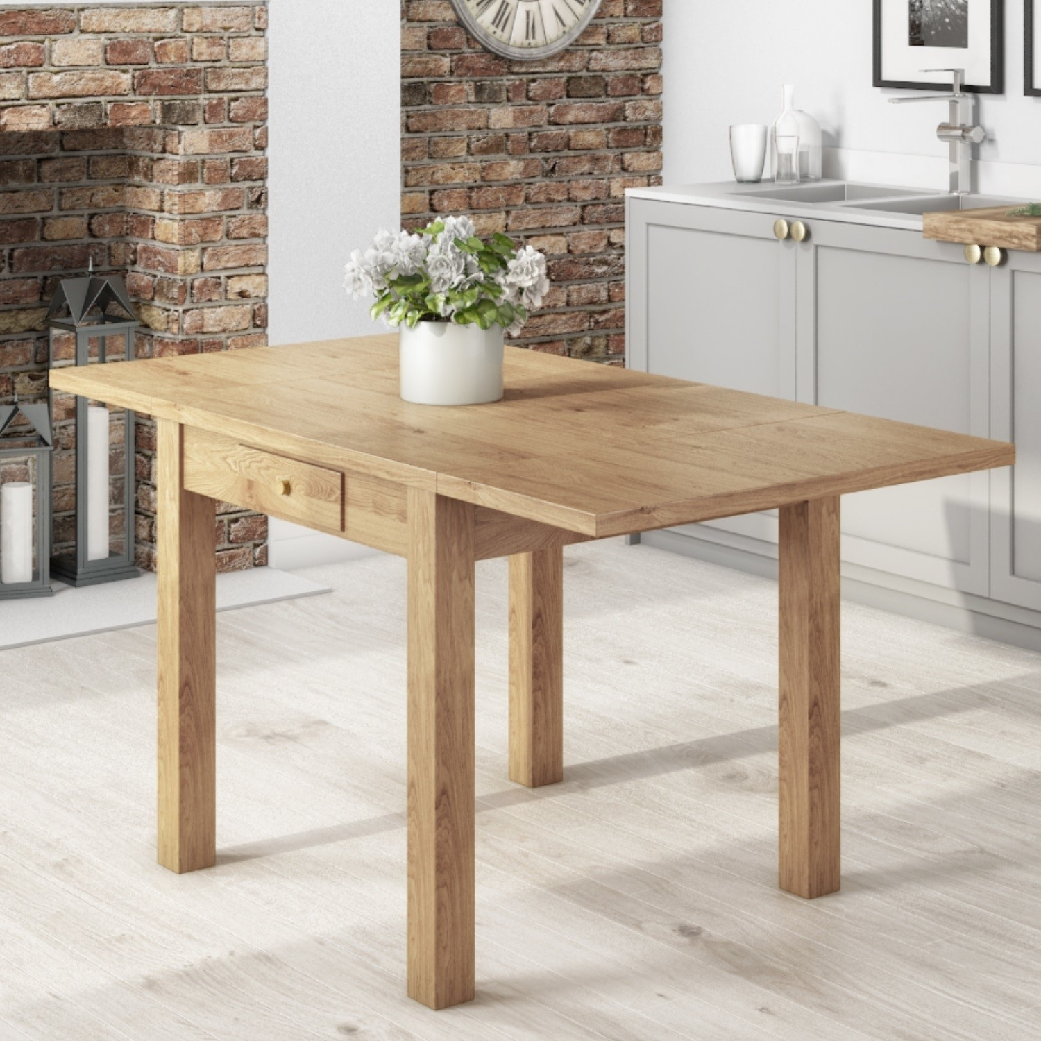 Stupendous Emerson Extendable Solid Wood Drop Leaf Dining Table Seats 4 6 Home Interior And Landscaping Ologienasavecom