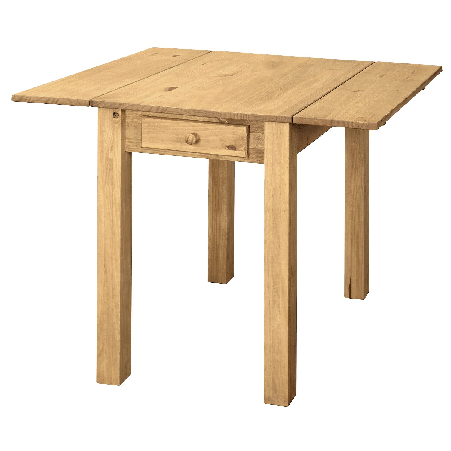 Drop Leaf Pine Dining Table in Solid Pine  Emerson