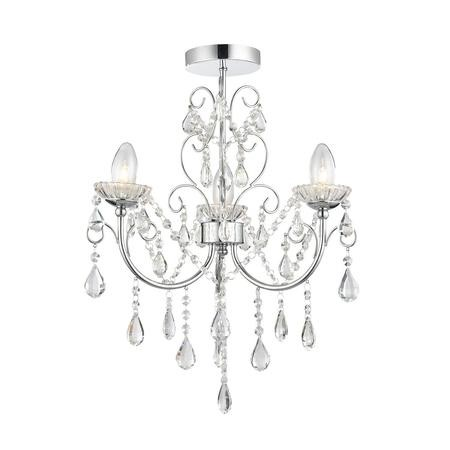 Chandelier with 3 Lights & Crystals - Tabitha