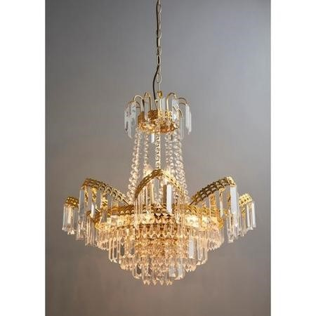 Adagio 9 Light Chandelier Ceiling Light with Gold Effect Finish