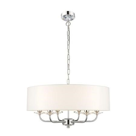 6 Light Pendant with White Shade - Nixon